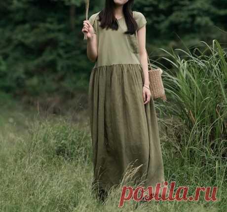 Women long Linen dress maxi dress Summer minimalist dress   Etsy
