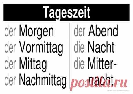 ВРЕМЕНА СУТОК 🌚 🌝 / Изучение немецкого языка