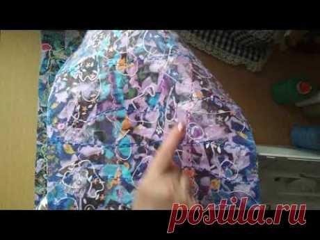 СУМКА-ТОРБА ИЗ МЕЛКИХ ЛОСКУТОВ С АППЛИКАЦИЕЙ НА ТКАНИ/текстильная пицца/ лоскутное шитье