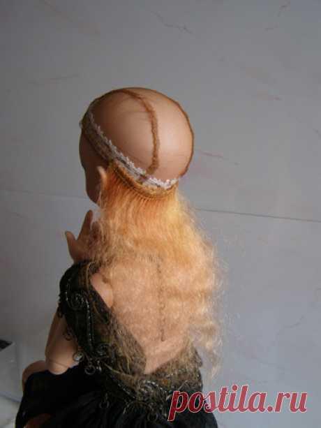 Как сделать парик для для куклы своими руками - мастер класс / Как сделать кукле волосы, парик для куклы своими руками / Бэйбики. Куклы фото. Одежда для кукол