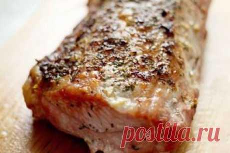 Вкуснота! Свиная вырезка с чесноком и розмарином   Вкусные рецепты