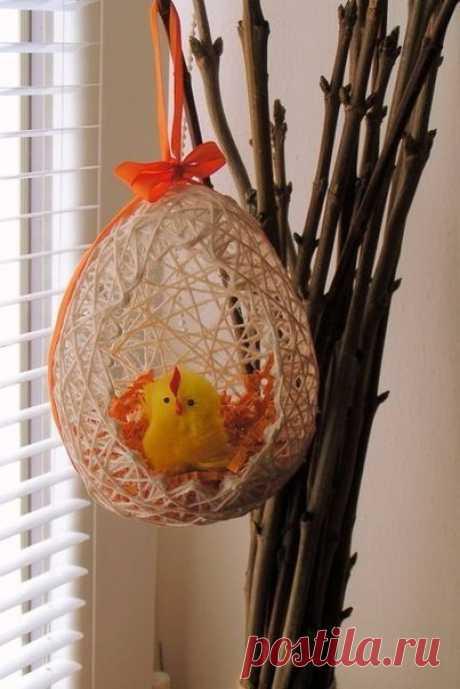 Самые нежные воздушные пасхальные яйца из ниток