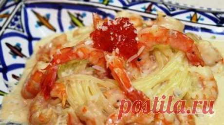 Спагетти с креветками - пошаговый рецепт с фото на Повар.ру