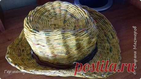 Ковбойская шляпа.Плетение