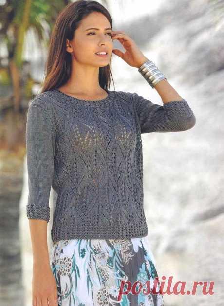 Ажурный пуловер невероятной красоты — Сделай сам, идеи для творчества - DIY Ideas