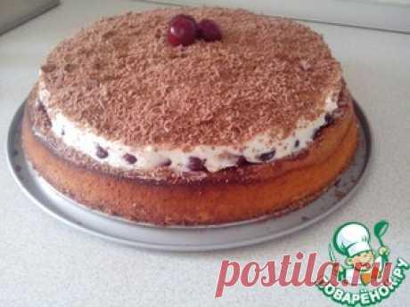 Торт с вишней и кремом маскарпоне - кулинарный рецепт