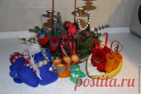 Валяем мини-валенки. Идея для сувенира, или Теплая обувь для куклы - Ярмарка Мастеров - ручная работа, handmade