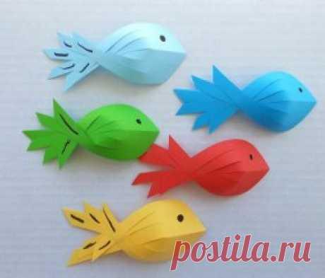 Поделки с детьми: рыбки