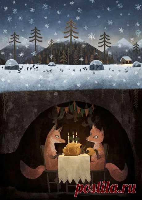 fox feast | Inspiring art