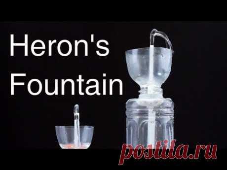 Как сделать бесконечный фонтан Герона из пластиковых бутылок?