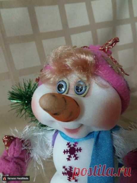 Интерьерная кукла из капрона Снеговик ручной работы купить в Минске и Беларуси, цены на HandMade