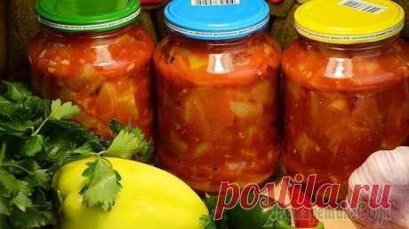 Домашние заготовки Салат на зиму из кабачков и помидоров – смело готовьте двойную порцию!  ИНГРЕДИЕНТЫ 1 кг кабачков (в очищенном виде) Показать полностью...