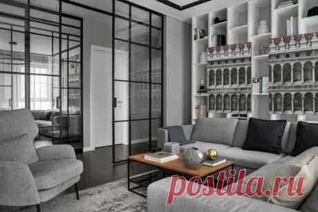 Монохромный минимализм: стильный интерьер квартиры площадью 91 м?