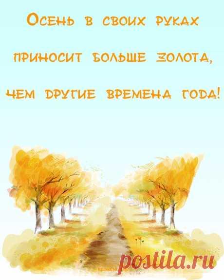 Картинки про осень с надписями красивые