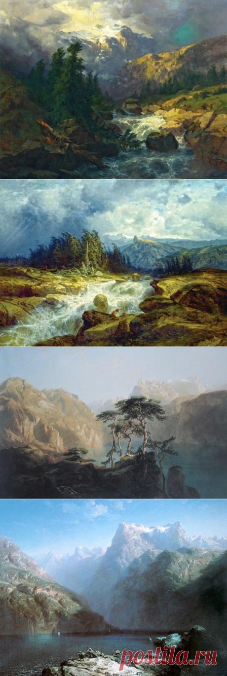 El pintor Alejandro Kalam (Alexandre Calame). Los cuadros