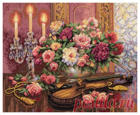 Купить Dimensions Набор для вышивания Romantic Floral (Романтический букет) 41 х 33 см (35185) по низкой цене с доставкой из Яндекс.Маркета