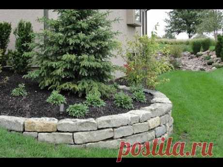 Retaining walls from a natural stone – ideas of design for giving and a garden site