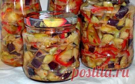 Рецепт аппетитки из баклажанов на зиму | ReRecept
