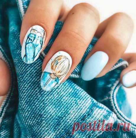 Летний маникюр 2019: 100+ фото летнего маникюра, крутой летний нейл-арт, летний дизайн ногтей | GlamAdvice