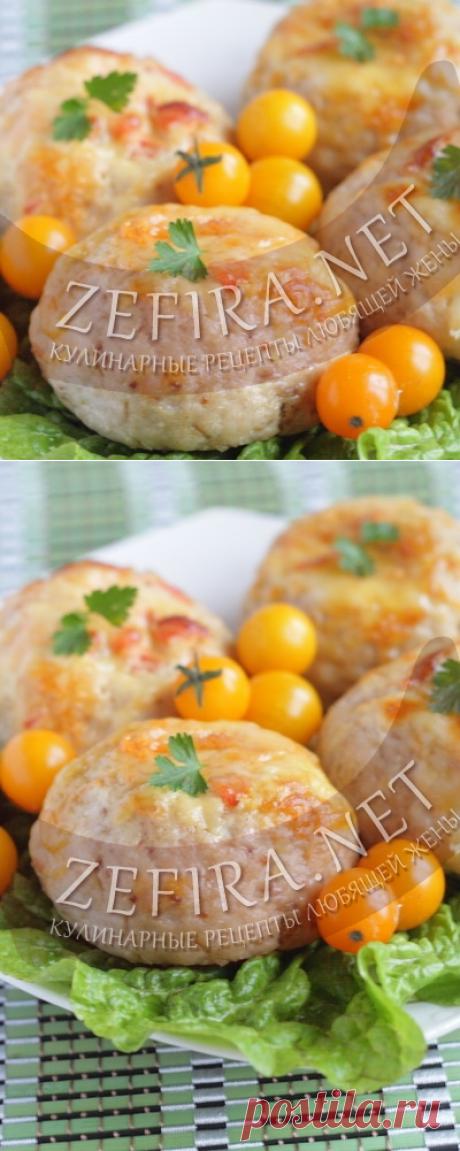 Куриные котлеты в духовке с помидорами и сыром - Антрекот - большая кулинарная книга