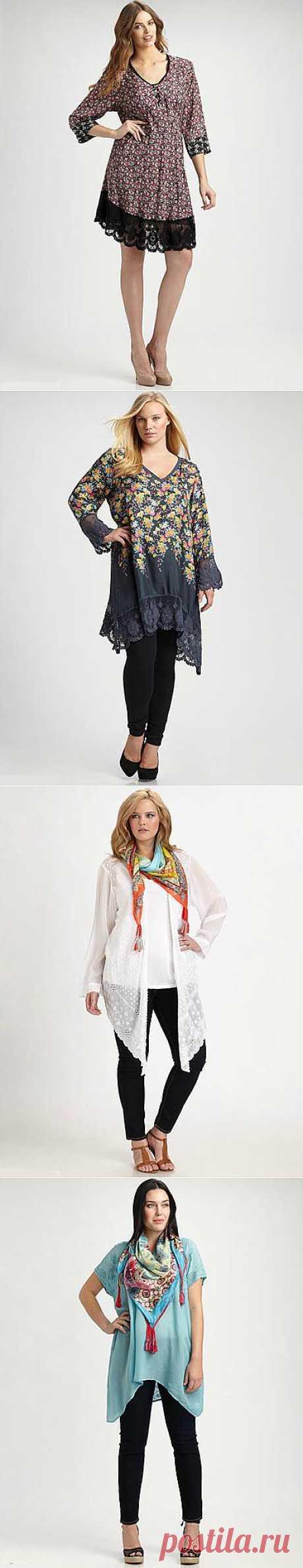Коллекция одежды в стиле бохо-шик для полных модниц от Johnny Was. Весна-лето 2012 - Полная модница