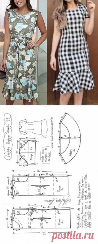 Vestido tubinho peplum - DIY - molde, corte e costura - Marlene Mukai