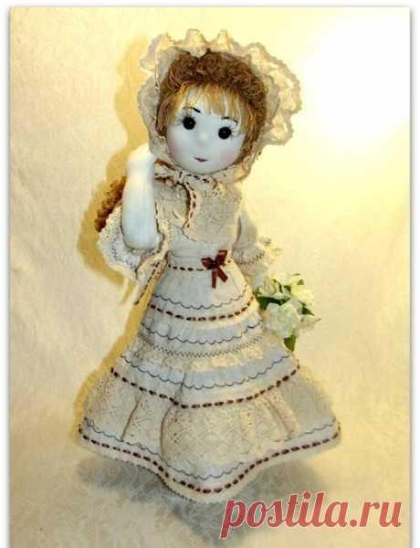 Две куклы сшиты по одной выкройке - но как я не старалась, одинаковыми они не получились. Текстильная, шарнирная кукла.   Юлия Жданова   Яндекс Дзен
