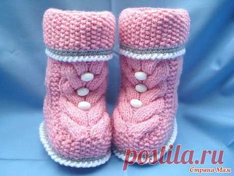 """We knit Bootees """"Коса"""" spokes: Diary of """"Вяжем group together он-лайн"""" - Country of Mothers"""