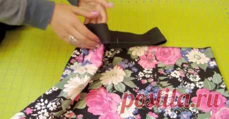Пришивание широкой резинки (видео) / Материалы, техники и инструменты /