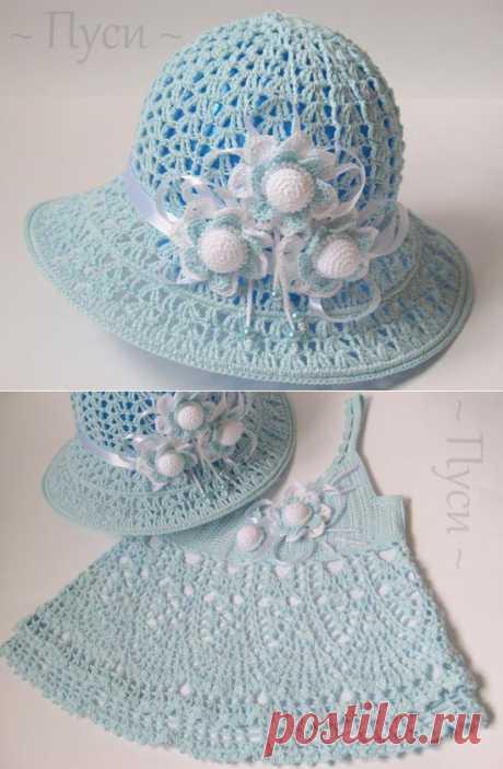Шляпка и платье от Пуси.