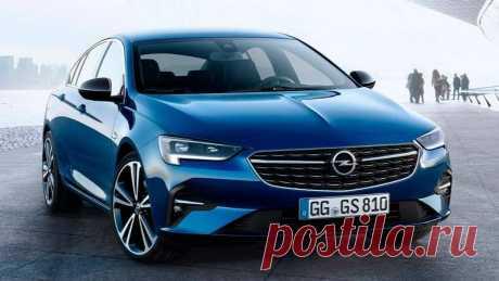 Обновленные лифтбек и универсал Opel Insignia 2020