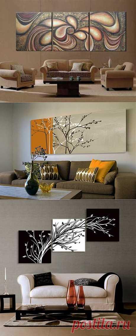 Картины в интерьере квартиры фото подборка | семиделка.ру