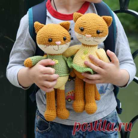 PDF Мастер-класс котята амигуруми #схемыамигуруми #амигуруми #вязаныйкот #вязаныеигрушки #amigurumipattern #crochetcat #amigurumicat