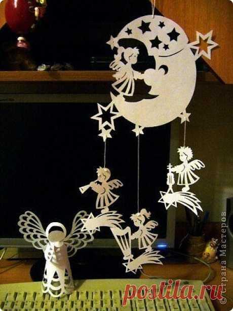 Рождественская подвеска из бумаги. Шаблоны.