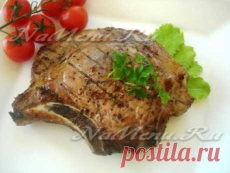 Стейк из свинины на мангале Любите стейки так же сильно, как любим их мы? Соедините два удовольствия в одно - стейк из свинины на мангале - это очень вкусно.