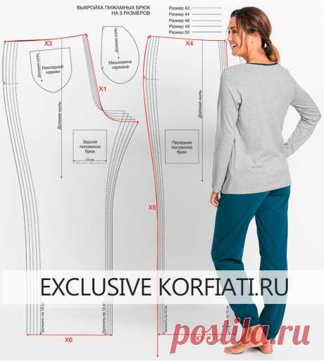 Выкройка трикотажной пижамы от Анастасии Корфиати