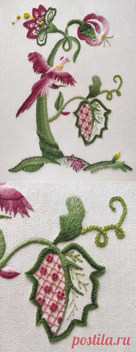 Якобинская вышивка | Пикабу