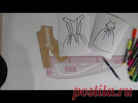 Две модели платья, моделирование. Dos modelos de vestidos, transformaciones.
