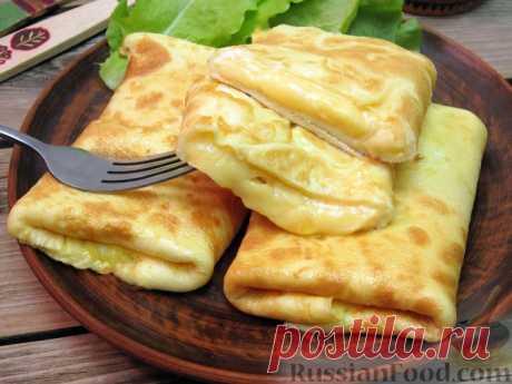 Омлет с сырной начинкой🍳