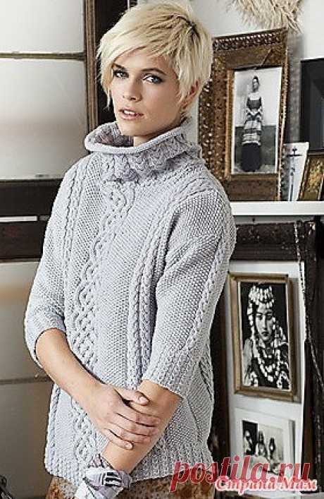 Женский пуловер аранами - Вязание - Страна Мам