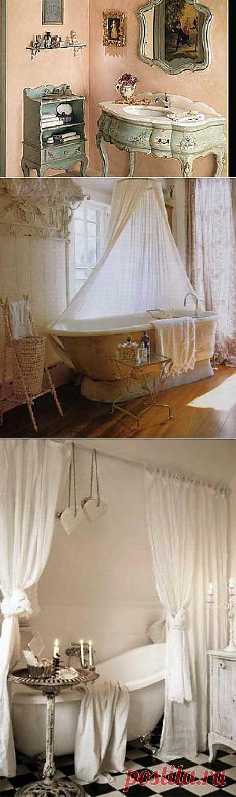 Шебби шик в интерьере. Ванная комната - Ярмарка Мастеров - ручная работа, handmade