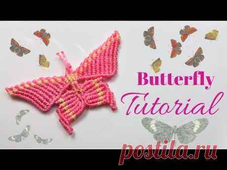 """(7) Tutorial macrame """" Butterfly """"/ Farfalla - YouTube"""