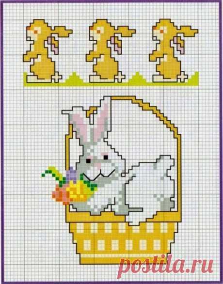 Подборка пасхальных схем вышивки для детей