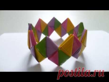 Diy: Candy wrapper bracelet / Браслет из фантиков. Мастер-класс