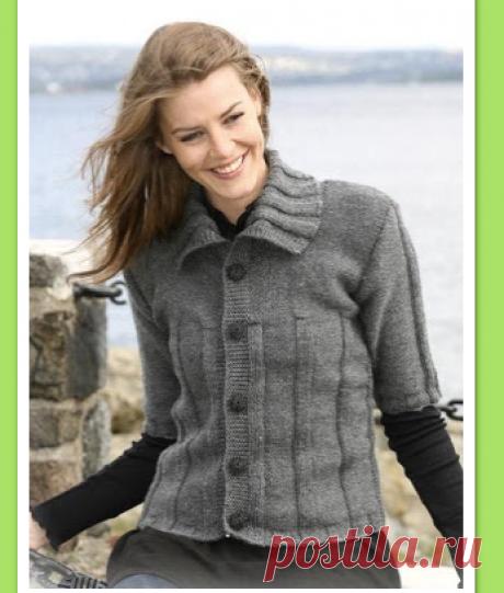 Блог рыжей лисицы: Вязание спицами. Серый жакет к весне.