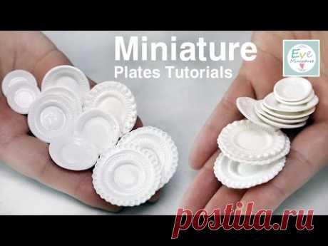 미니어쳐 그릇 만들기 (Up) Miniature plates tutorials