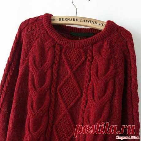 . Красный свитер спицами или очередное аФторство - Вязание - Страна Мам