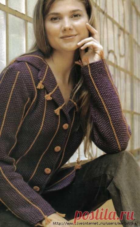 Как обновить пиджак (кардиган) ☼ декоративное вязание.