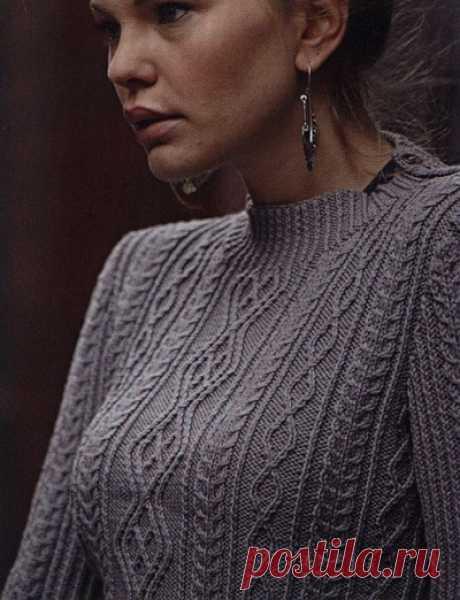 Серый вязаный пуловер | DAMские PALьчики. ru