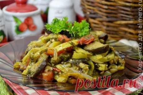 Вкусные овощи на сковороде